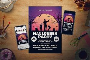 Halloween Flyer Set