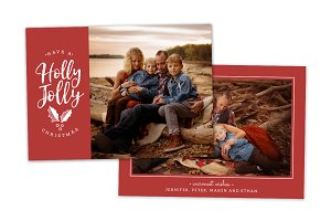 Christmas Card Template CC0159