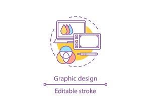Computer graphic concept icon