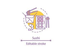 Sushi concept icon