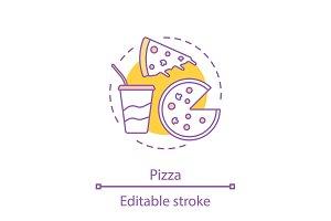 Pizzeria concept icon