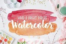 Vivid & Bright Watercolor Textures