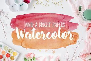 Vivid & Bright Watercolor Textures