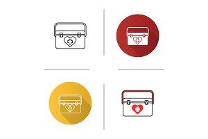 Organ transplant case icon