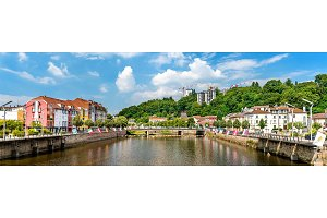 The Moselle River in Epinal, France
