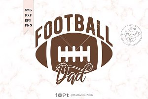 Football dad SVG DXF EPS PNG
