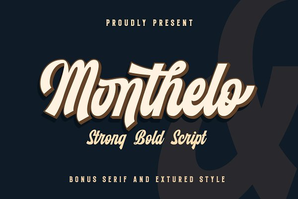 Display Fonts: Blankids Studio - Monthelo