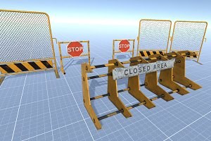 Police Barriers Set