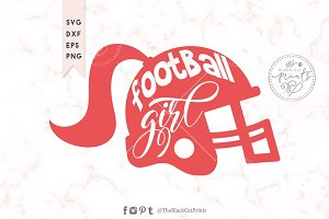 Football girl SVG DXF EPS PNG