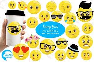 Emoji Faces Clipart AMB-2250