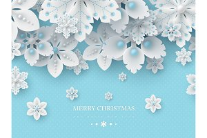 Christmas background with 3d