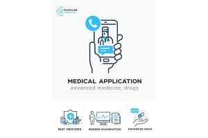 Medical illustrations icons
