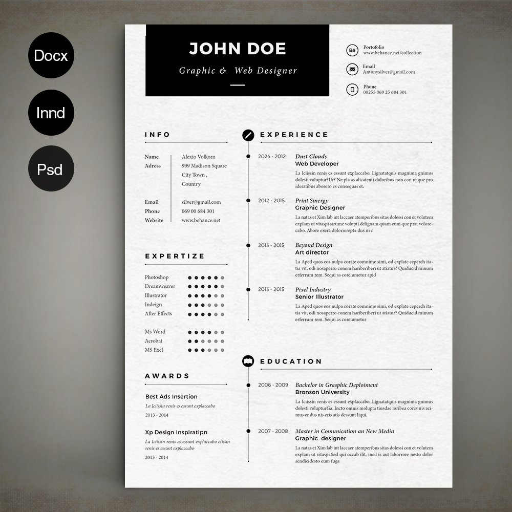 Simple Basic Resume Template Download: Resume Templates