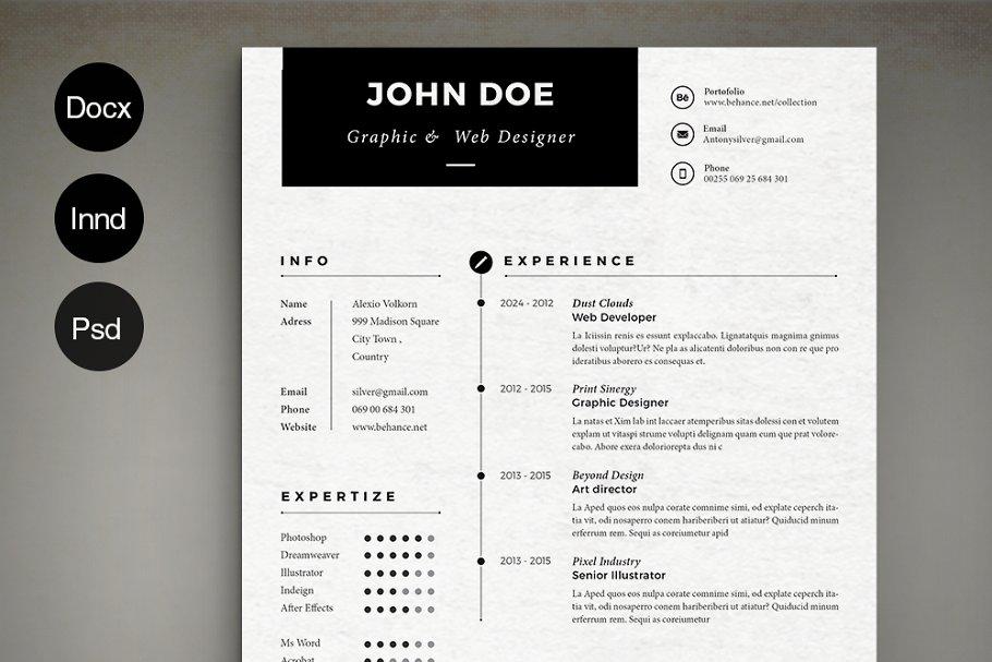 Simple Resume ~ Resume Templates ~ Creative Market