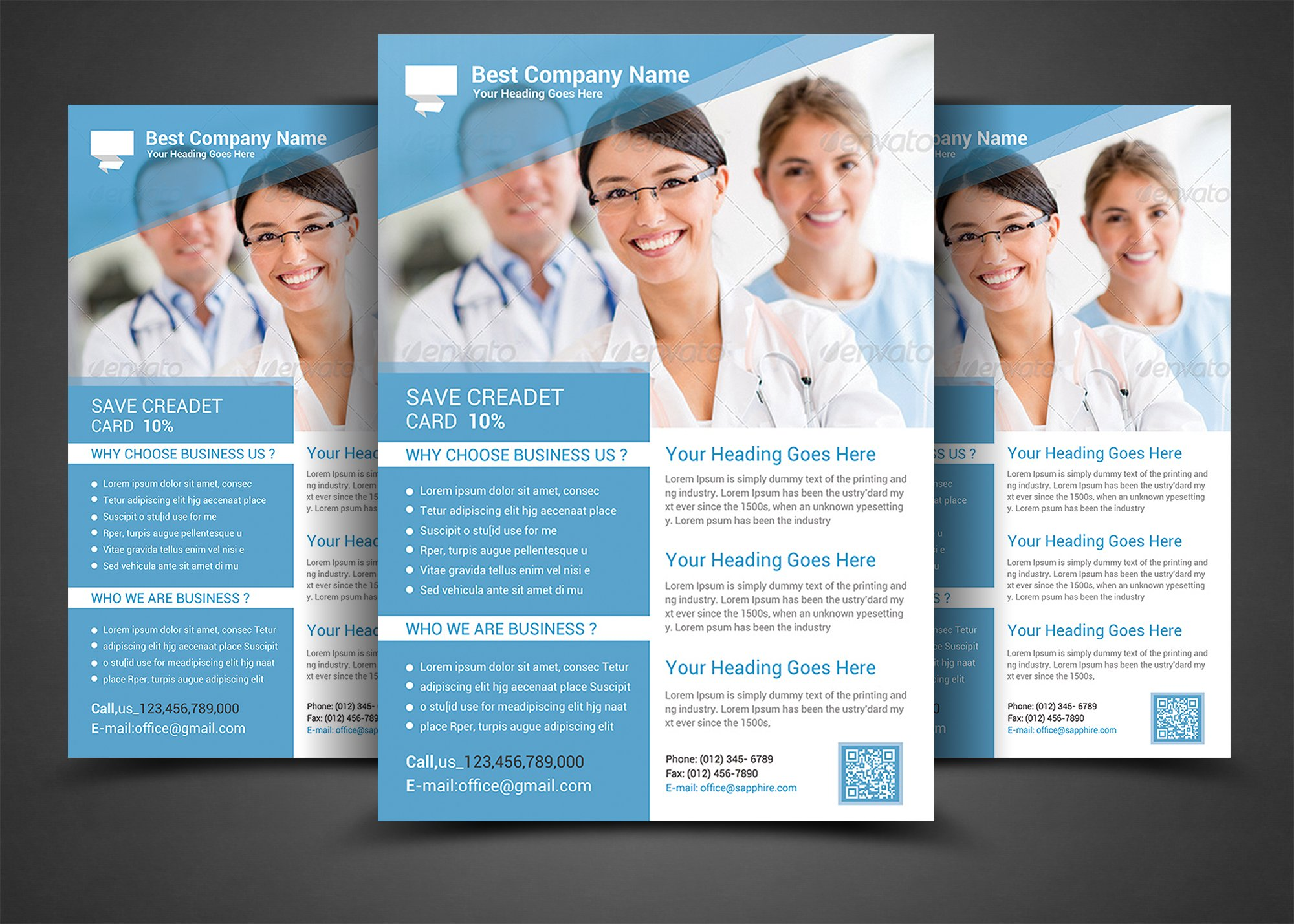 health medical doctors flyer templ flyer templates creative market