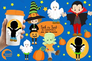 Trick Or Treat Clipart AMB-2260