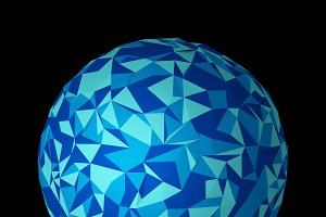 Abstract planet earth. Blue technolo