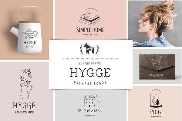 Logo Templates: Marish - Hygge - premade logo collection