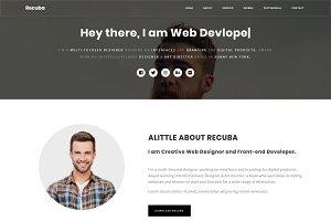 Recuba - Personal Portfolio Template