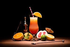 alcohol cocktail with orange juice o