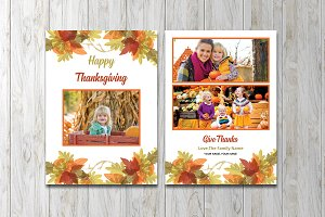 Thanksgiving Photo Card  V870