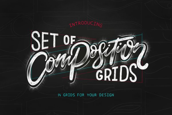 Photoshop Brushes - Composition grids for Lettering.