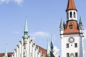 Old Town Hall on Marienplatz Munich