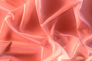 close up view of elegant pink silky