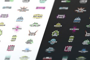 Music Equalizer Logo Template Set
