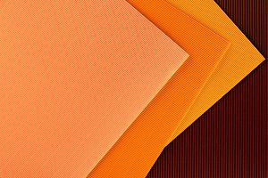 top view of arranged colorful sheets