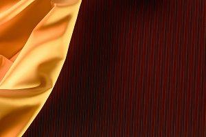 close up view of orange elegant silk