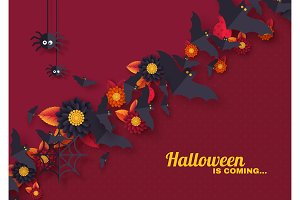 Halloween holiday design with