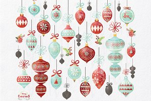 Watercolor Christmas Ornament Design