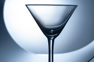 silhouette of empty martini glass on