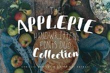 ApplePie Font duo + Extras