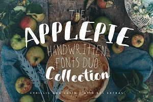 ApplePie Font duo + Extras