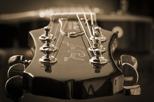 Les Paul Guitar in sepia