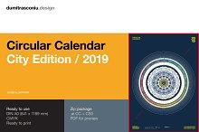 Circular Calendar 2019 - City Editon by  in Templates