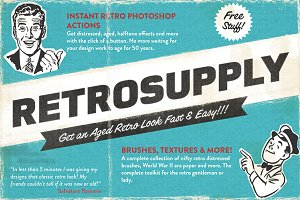RetroSupply | Retro Photoshop Bundle