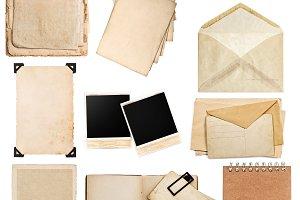 Old paper sheets Vintage photo album