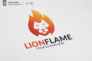 Lion Flame Logo