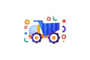 Dump truck, heavy industrial
