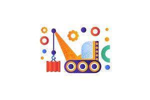 Hydraulic crawler crane, cargo