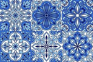 Portuguese azulejo ceramic tile