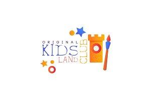 Kids land club logo original
