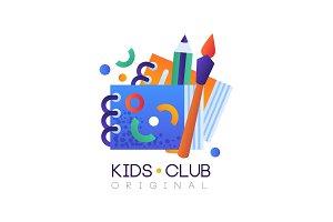 Kids club logo original, creative