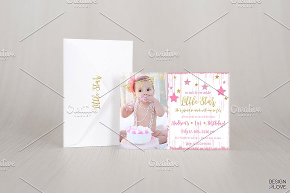 Birthday Invitation Card Little Star Invitations