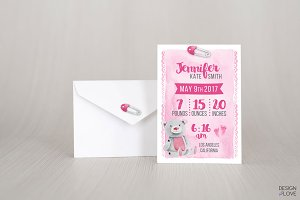 Baby Birth Poster Pony or Teddy Bear