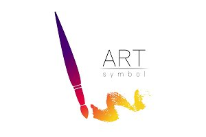 Modern Logo Sign of drawing Art