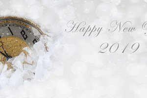 Happy New Year banner size image wit